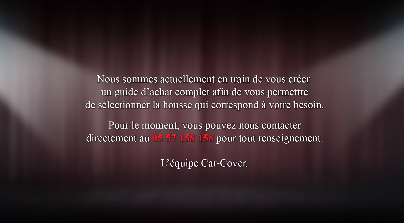 Guide d'achat Car-Cover®